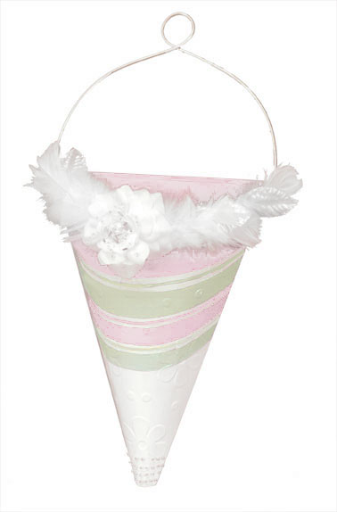 Feather Wedding Flower Cone