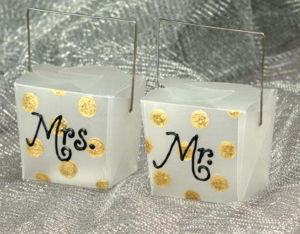 Black and Gold Wedding Favors