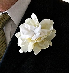 Napkin Wedding Flower Boutonniere