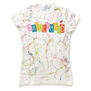 Splatter Paint Bridesmaid Tee Shirt