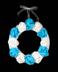 Crepe Paper Wedding Wreath