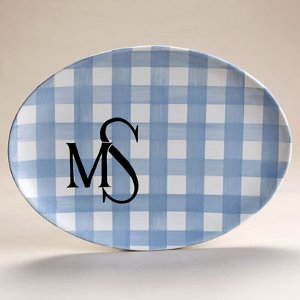 Personalized Plaid Platter