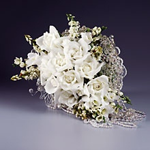White Rose Romance Bridal Bouquet