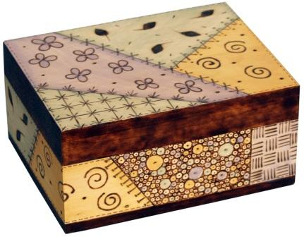 Quilt Pattern Woodburned Box