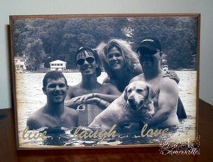 Wooden Photo Plaque