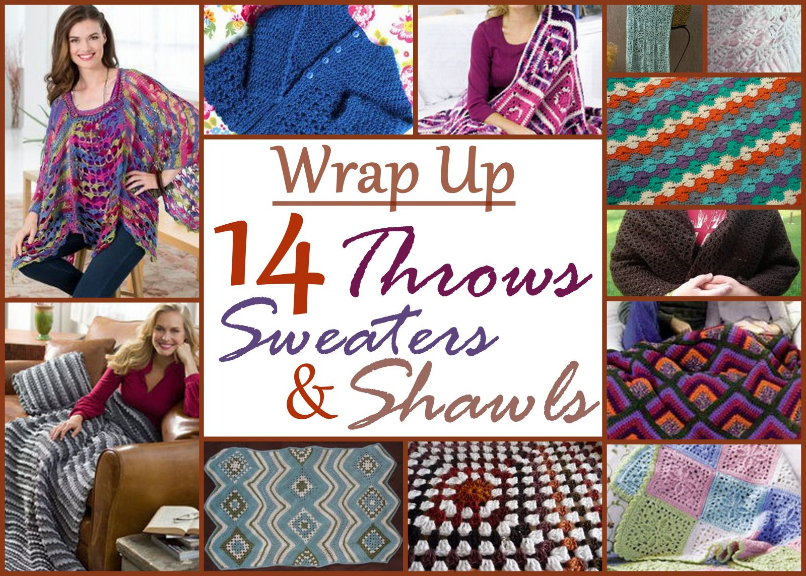 Wrap Up: Throws, Sweaters and Shawl Patterns for Crochet ...