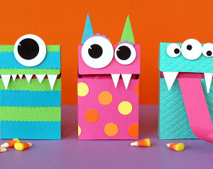 Adorable Monster Halloween Treat Bags