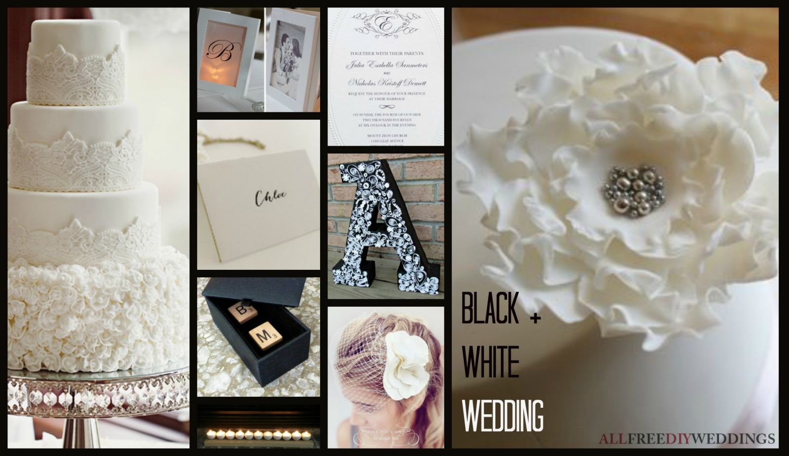 Wedding Color Schemes: Black and White