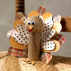 Burlap Toilet Roll Turkey
