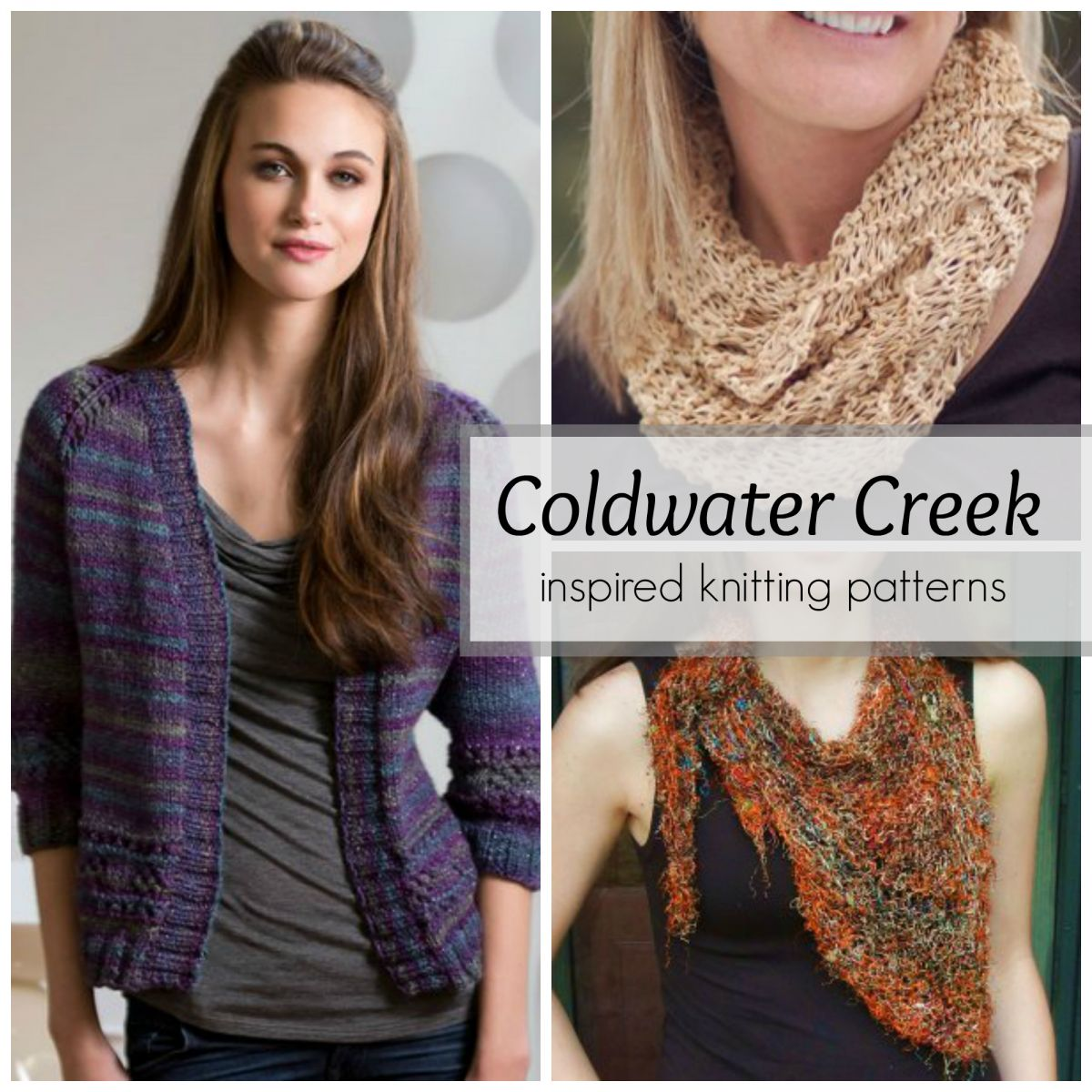 Coldwater Creek Inspired Knitting Patterns