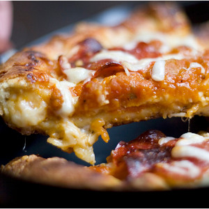 Copycat Pizza Hut Stuffed Crust Pepperoni Pizza