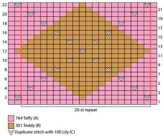 Argyle Knitting Pattern Chart : Girls Stockinette Argyle Dress AllFreeKnitting.com
