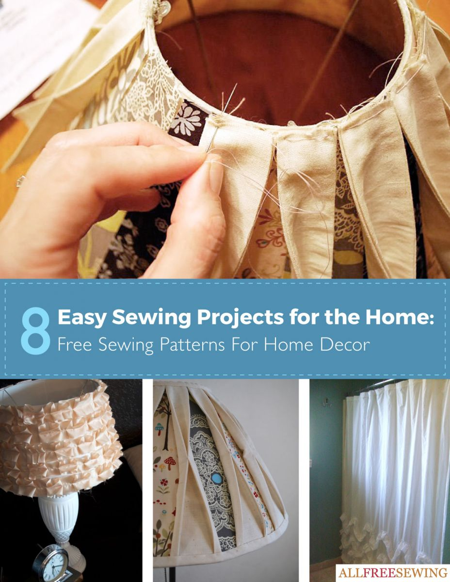 8 easy sewing projects for the home free sewing patterns for home decor - Home Decor Photos Free