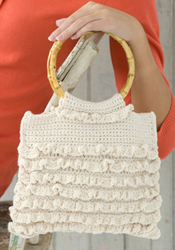 Unique Crochet Stitches: Crochet Rufflle Bag