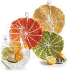 Citrus Slice Dishcloth