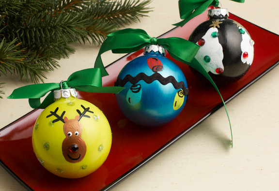 give these homemade christmas ornaments for kids as gifts to relatives and watch as they get centrally displayed year after year - Kids Christmas Ornaments