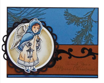 Forest Angel Christmas Card