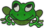 Frog Embroidery Pattern