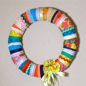 Funky Scrap Ribbon Wreath