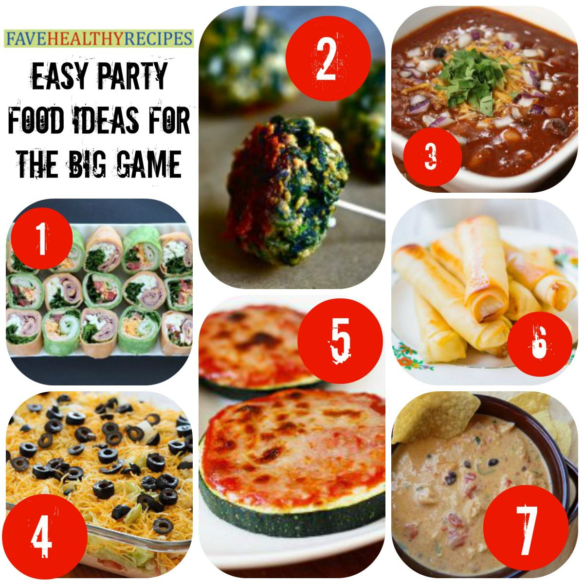 32 easy party food ideas for the big game favehealthyrecipes party food recipes that let you enjoy the game without feeling like a lineman scroll all the way down the page for links to the recipes shown below forumfinder Gallery