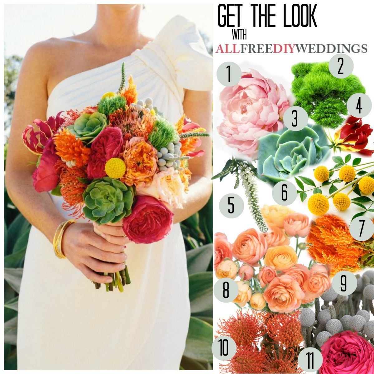 Making Your Own Wedding Flowers: Exotically Vibrant DIY Bouquet