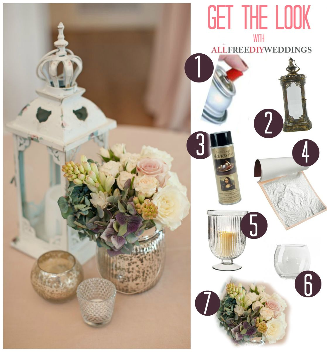 Antiqued Rustic Wedding Centerpieces AllFreeDIYWeddingscom