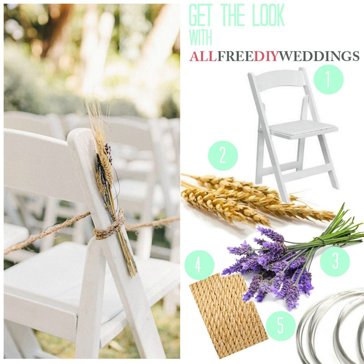 Lavender and Wheat Wedding Aisle Decorations AllFreeDIYWeddingscom