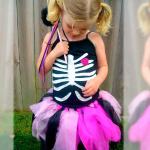 girly skeleton homemade halloween costume