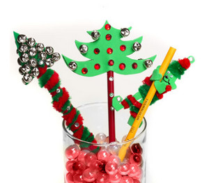 Holiday Pencil Toppers