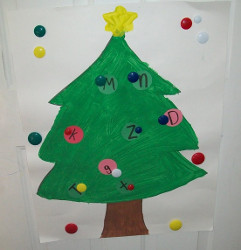 Learning Letters Christmas Tree