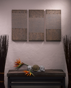 Faux Leather Wall Art