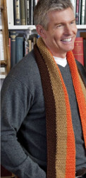Lengthwise Striped Scarf