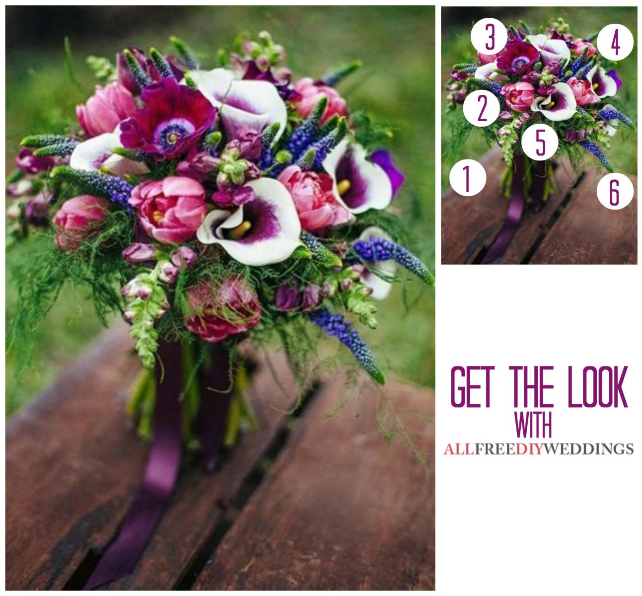 Purple Wedding Flowers DIY Bouquet AllFreeDIYWeddingscom
