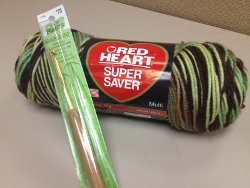 Red Heart Super Saver Yarn + Susan Bates Crochet Hook