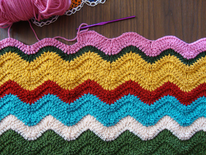 3 Wavy Ripple Crochet Afghan Patterns | AllFreeCrochetAfghanPatterns.com