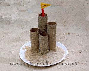 Toilet Tube Sand Castle Craft