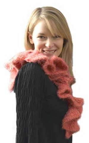 Fluffy Ruffle Potato Chip Scarf