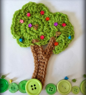 Unbelievably Easy Crochet Tree