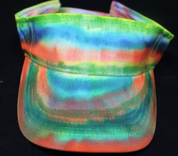Colorful Sharpie-Dyed Visor