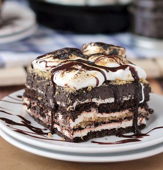 S'mores Chocolate Lasagna