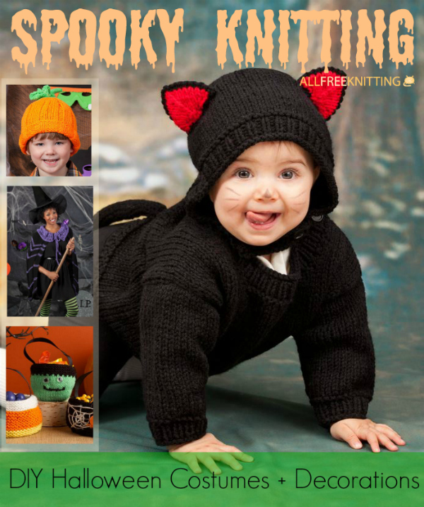 Spooky Knitting: 9 DIY Halloween Costumes + Decorations