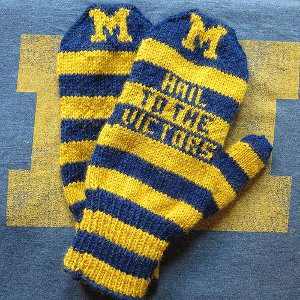 Striped Wolverine Mittens