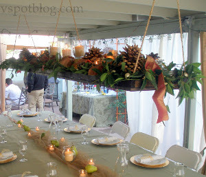 Suspended Rustic Wedding Centerpieces