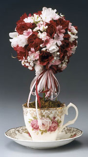 Teacup Roses Topiary