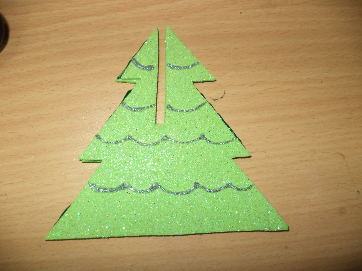 Paper Christmas Tree Ornaments Glitter Paper Christmas Tree Allfreechristmascraftscom