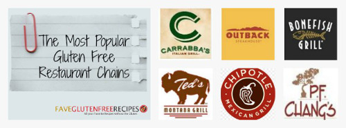 The Most Popular Gluten Free Resturant Chains