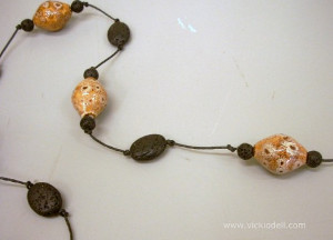 Volcanic Knotted Necklace