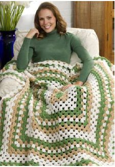 Weekend Wonder Giant Granny Square Throw