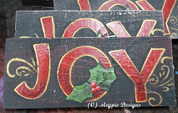 Wooden Joy Sign